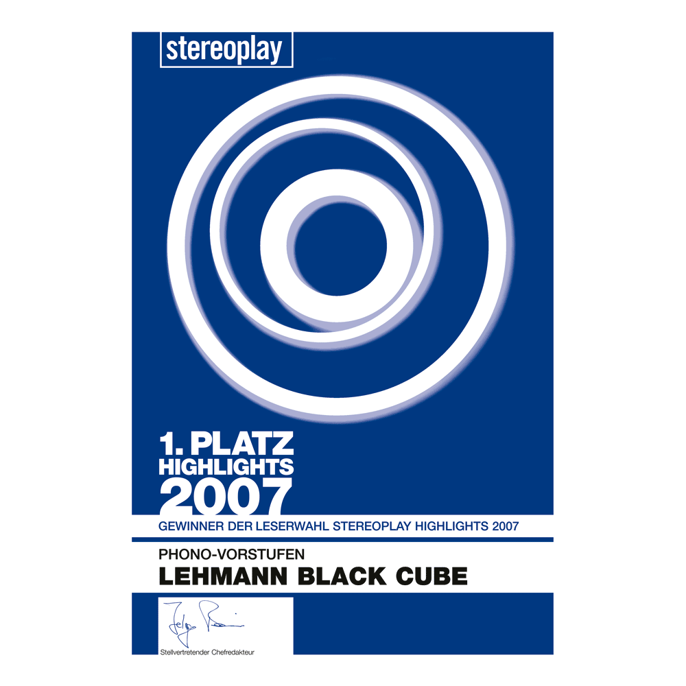 1. Platz, stereoplay Highlights 2007