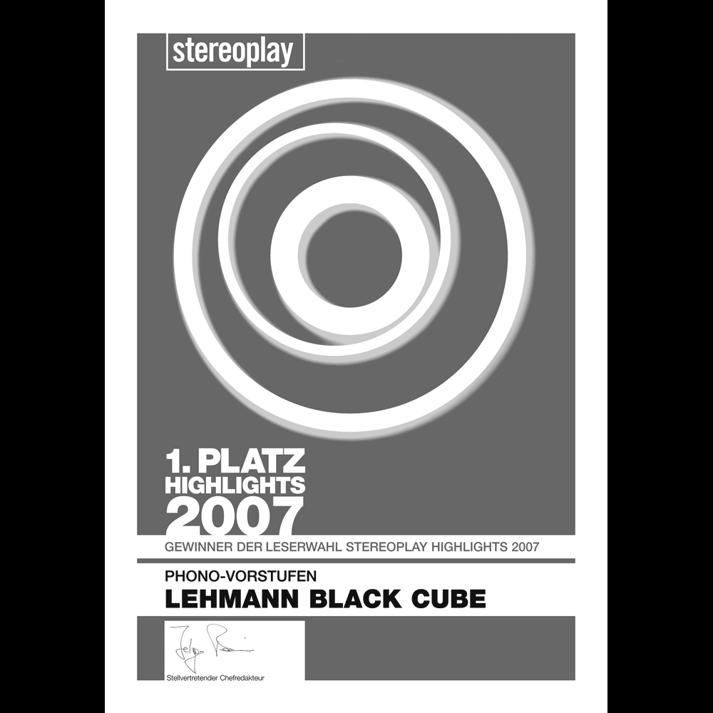 1st place, stereoplay Highlights 2007