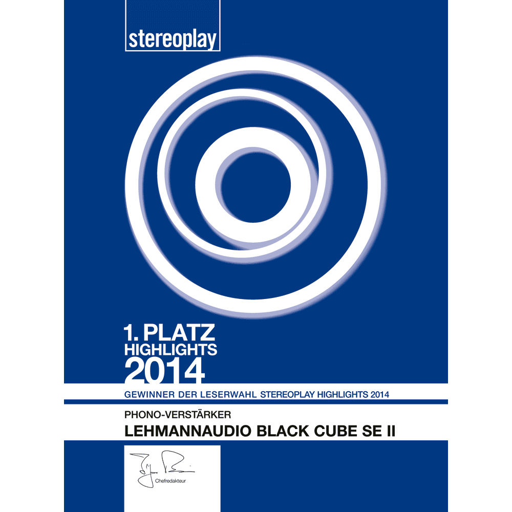 1. Platz stereoplay Highlights 2014