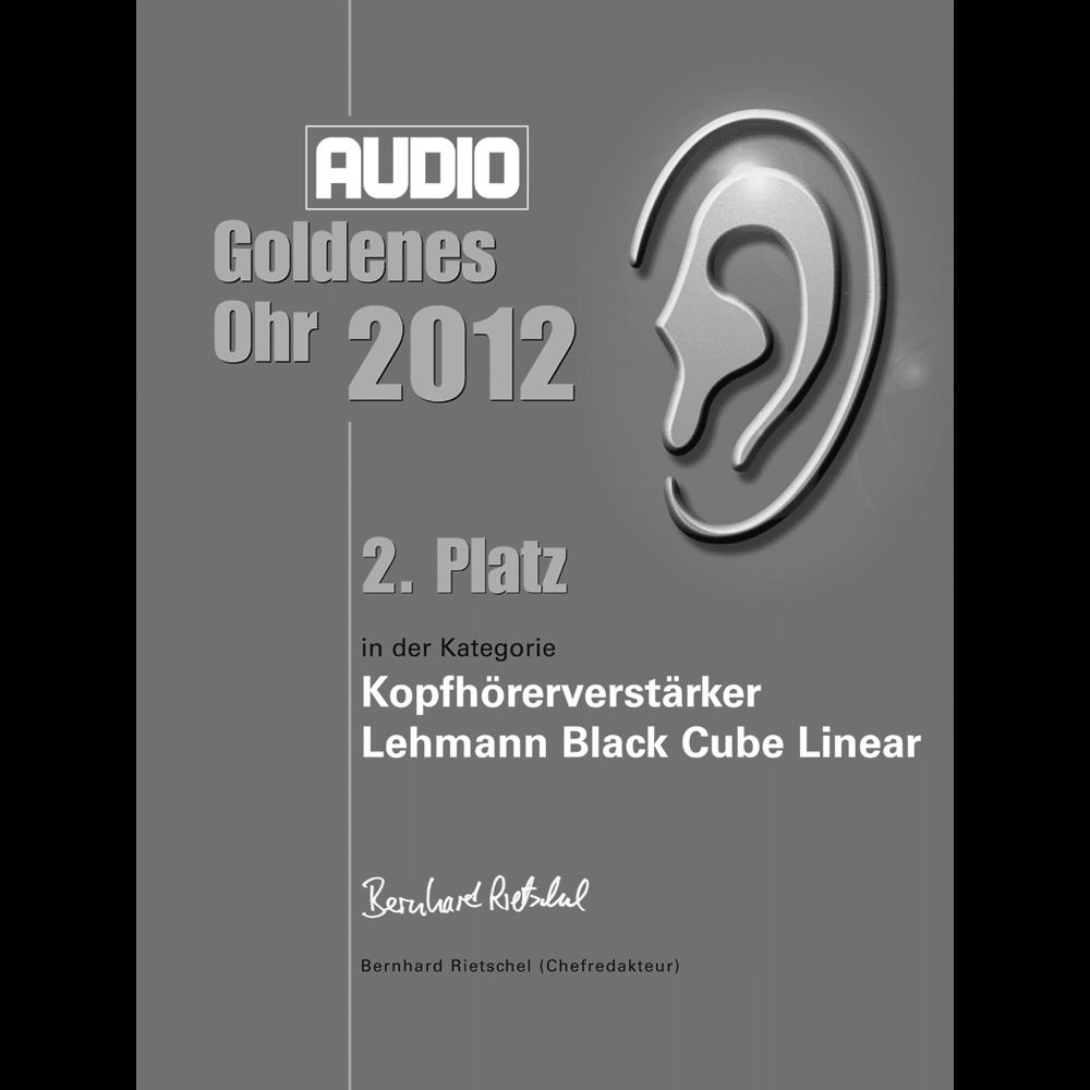 Goldenes Ohr, 2nd place category headphone amplifiers, AUDIO 2012