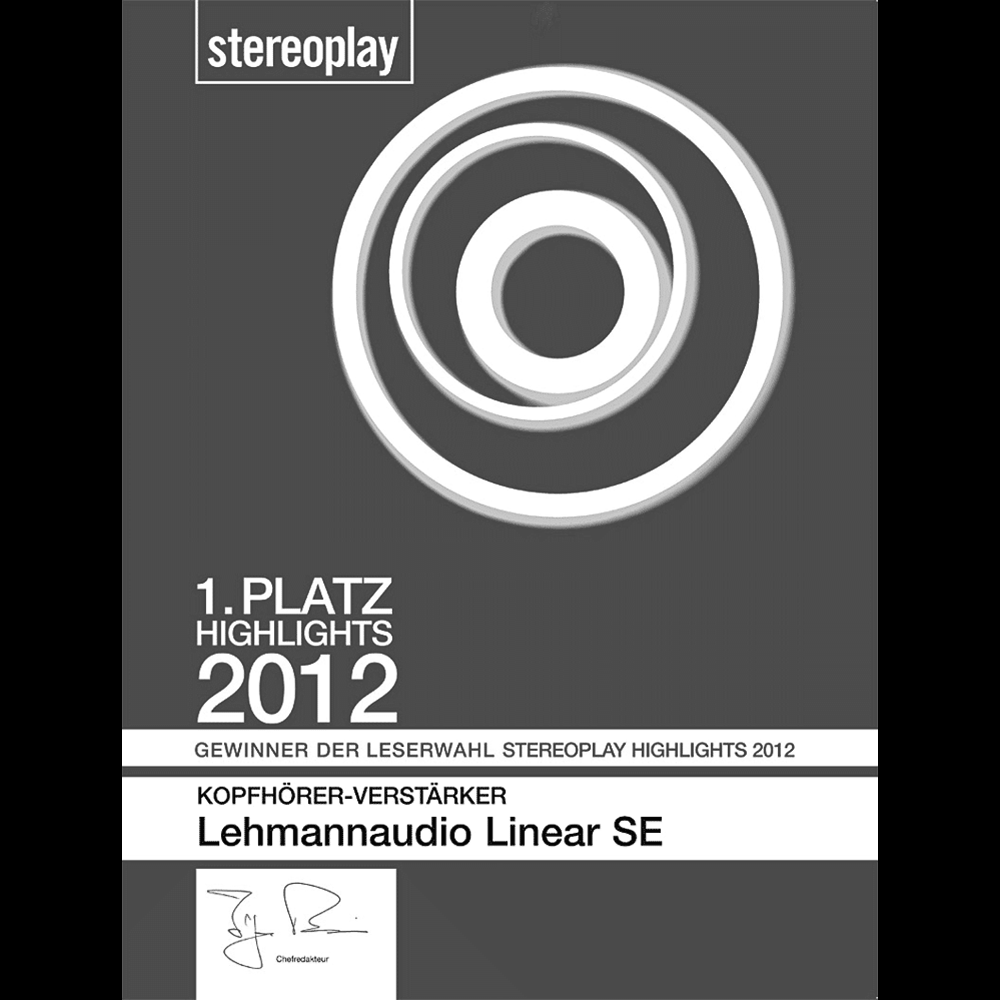 1. Platz Leserwahl stereoplay Highlights 2012