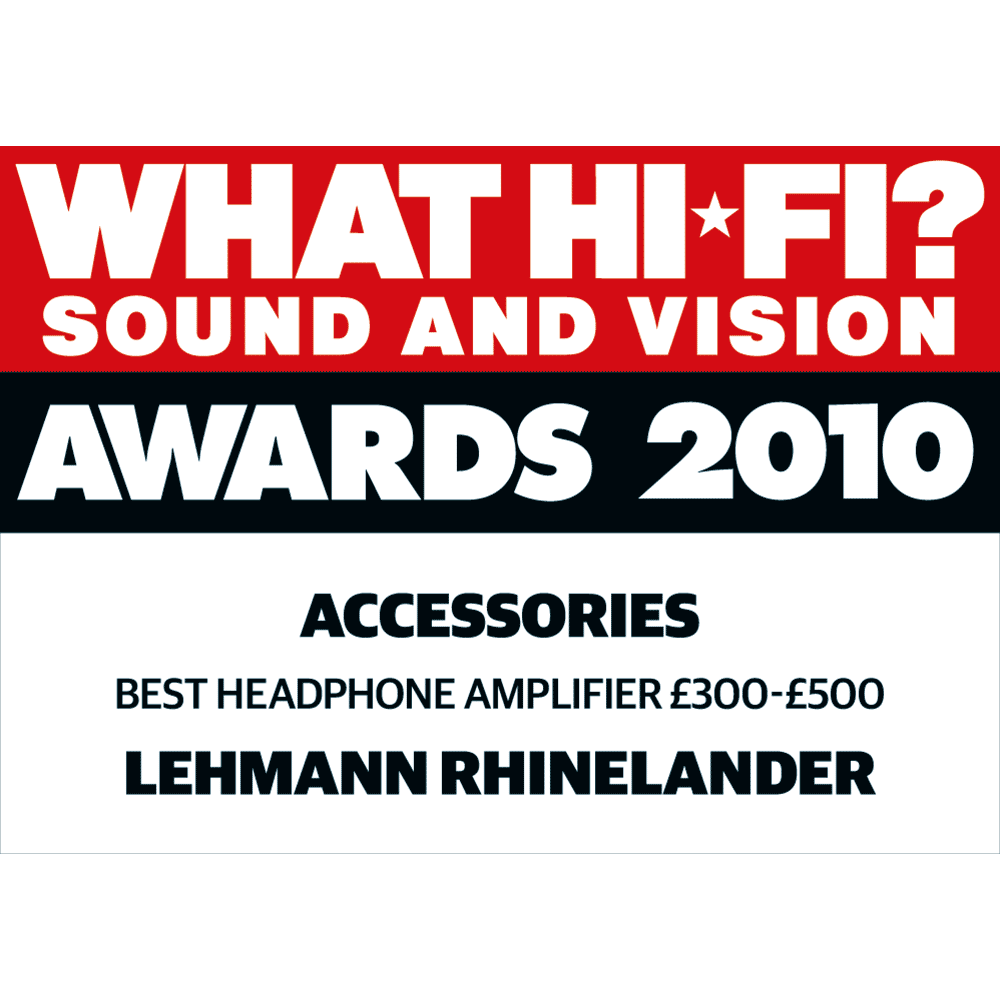 Best Headphone Amplifier £300 – £500, What Hi-Fi? Sound and Vision Awards 2010