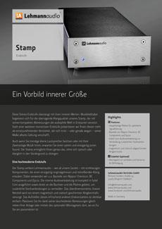 Stamp Endstufen Lehmannaudio