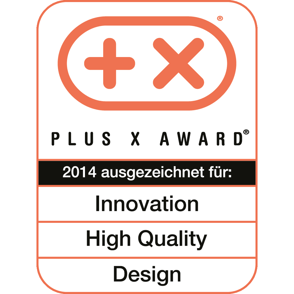 Innovation, High Quality, Design, Plus X Award 2014